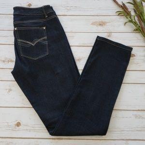 WHBM Blanc Slim Leg Denim Jeans 8 R